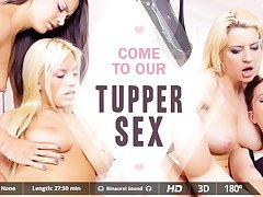 Blondie Fesser  Carolina Abril  Misha Cross  Sienna Day in Tupper Sex - VirtualRealPorn