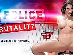 August Ames in Police Brutality - VRBangers