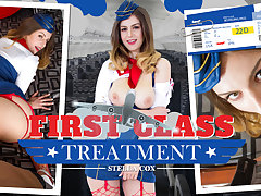 Casey Calvert  Stella Cox in First Class Treatment - WankzVR