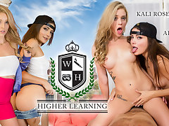 Adria Rae  Kali Roses in Higher Learning - WankzVR