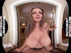 Virtual Reality Mom with HUGE BOOBS rides your dick!