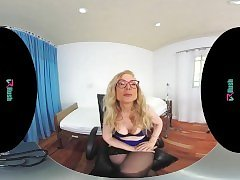 VRHUSH Sex lessons and JOI with mature Nina Hartley