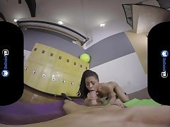 BaDoinkVRcom Locker Room Fuck With Ebony Teen Kira Noir
