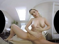 Jenny Ried has hot after-shower sex